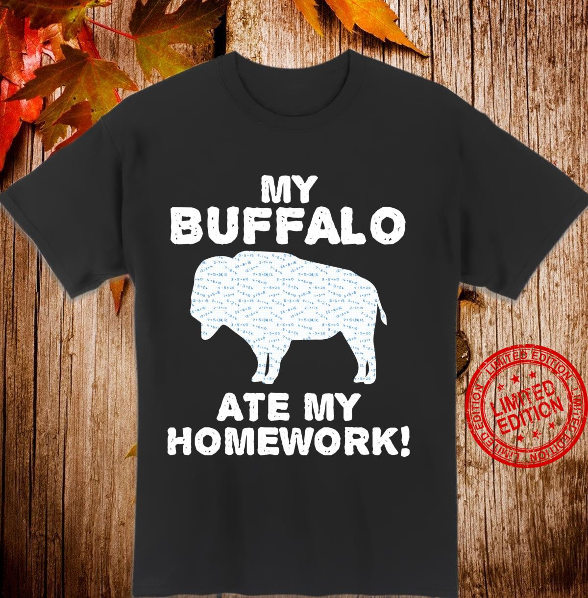 My Buffalo Ate My Homework Tamaraw Bison Back To School Kid Shirt