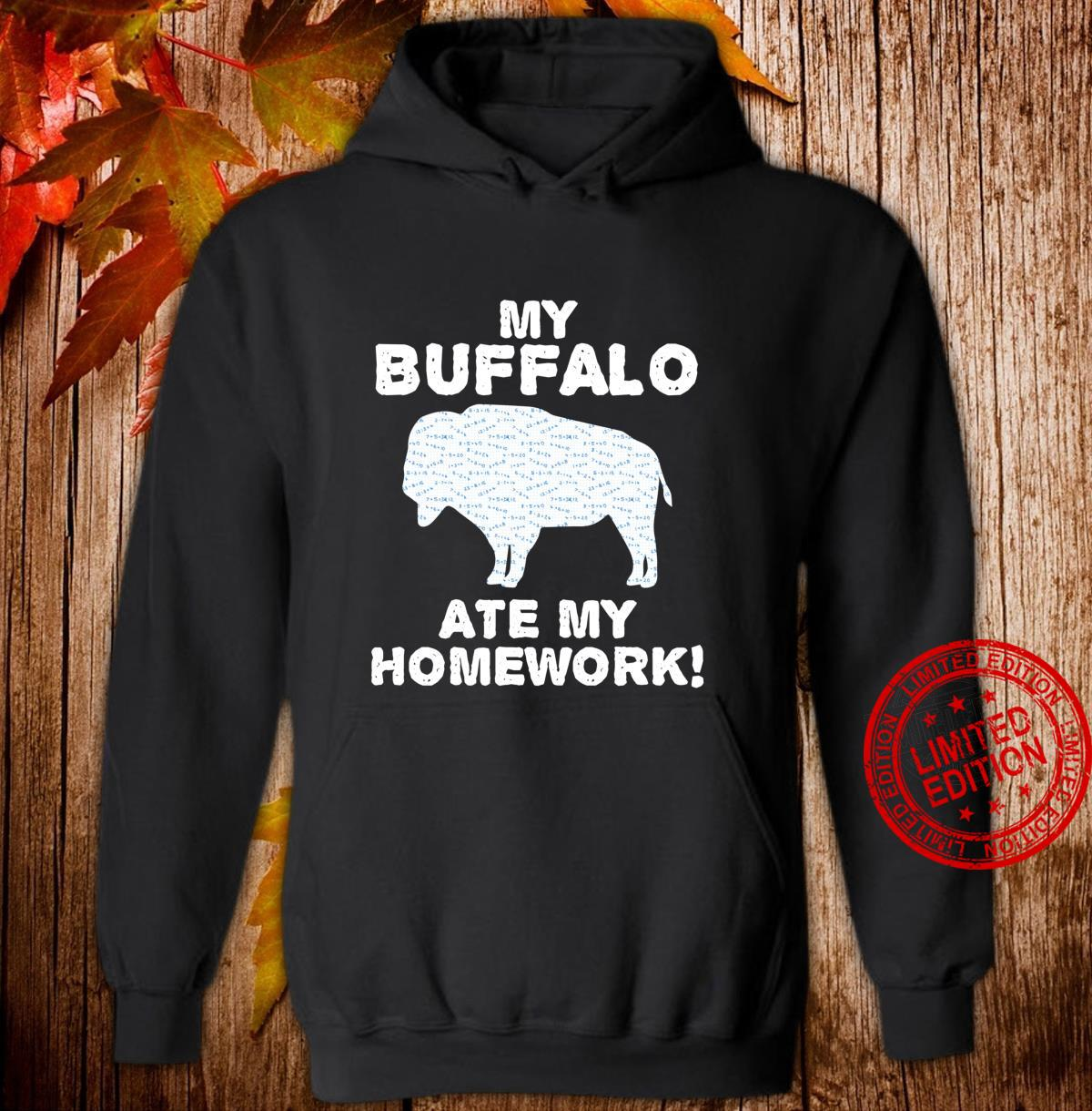 My Buffalo Ate My Homework Tamaraw Bison Back To School Kid Shirt hoodie