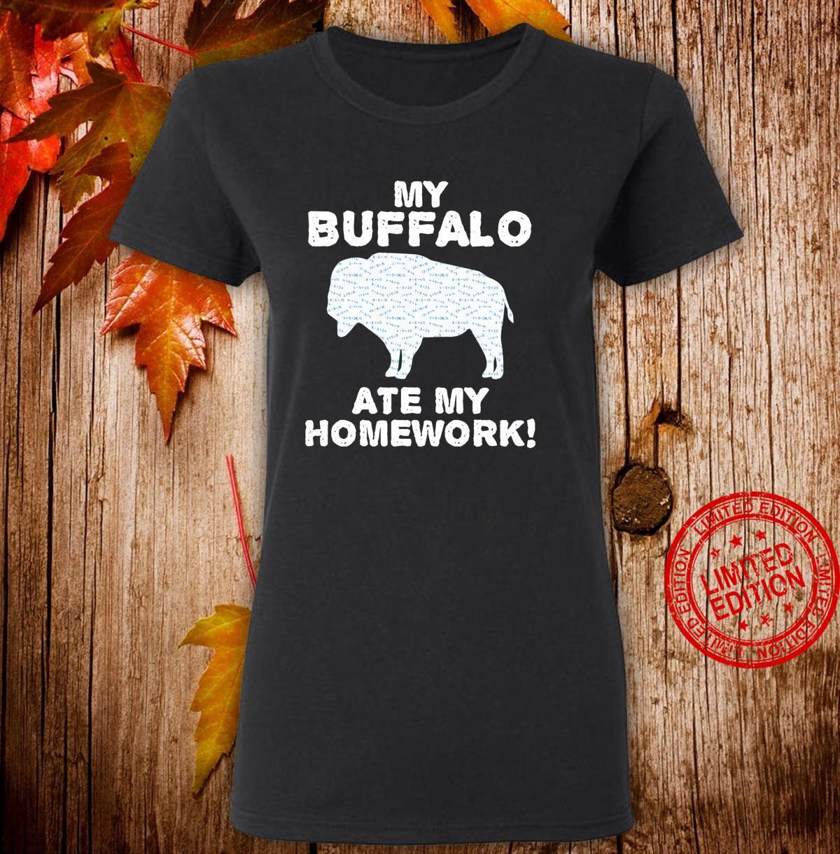 My Buffalo Ate My Homework Tamaraw Bison Back To School Kid Shirt ladies tee