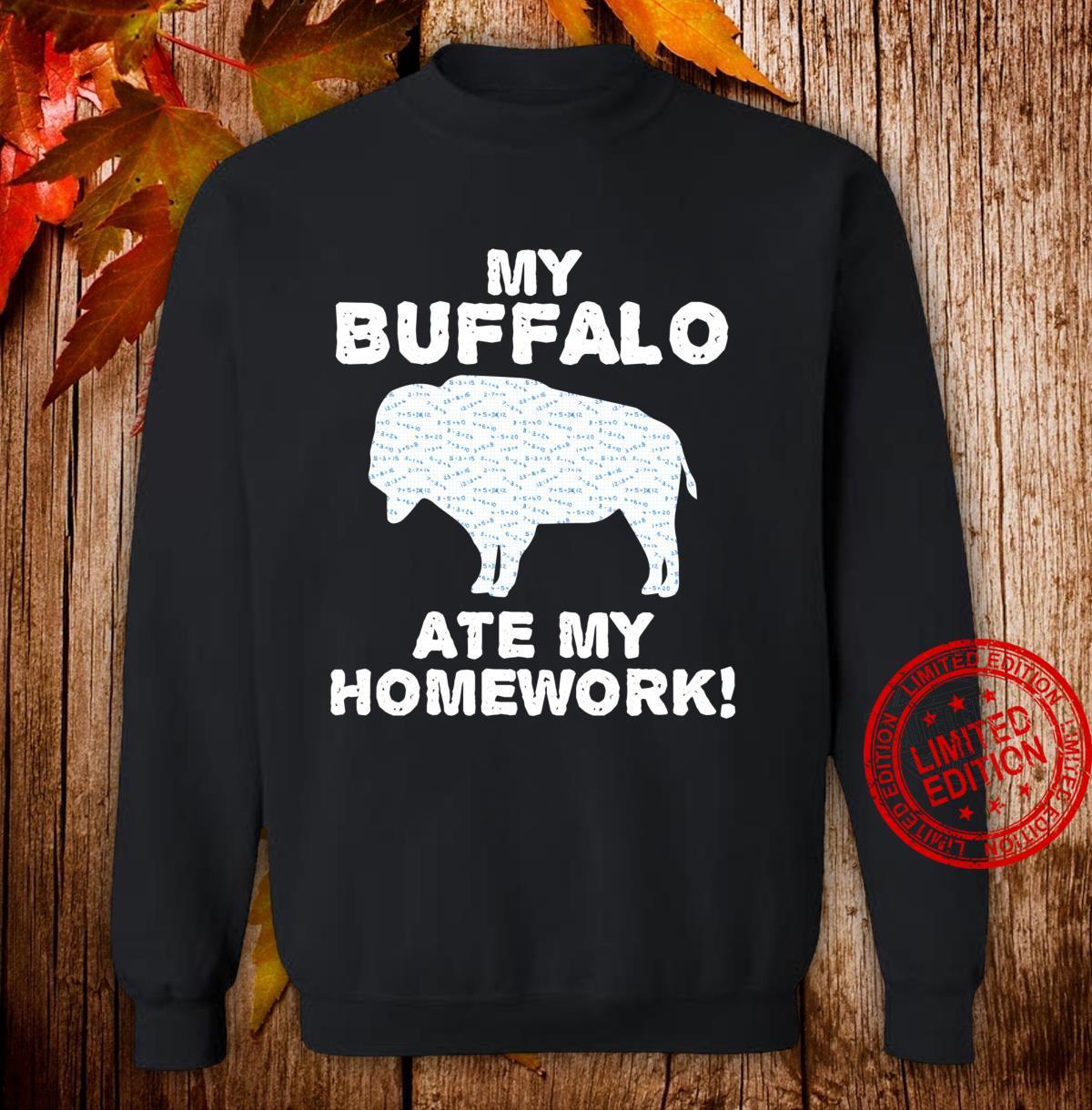 My Buffalo Ate My Homework Tamaraw Bison Back To School Kid Shirt sweater