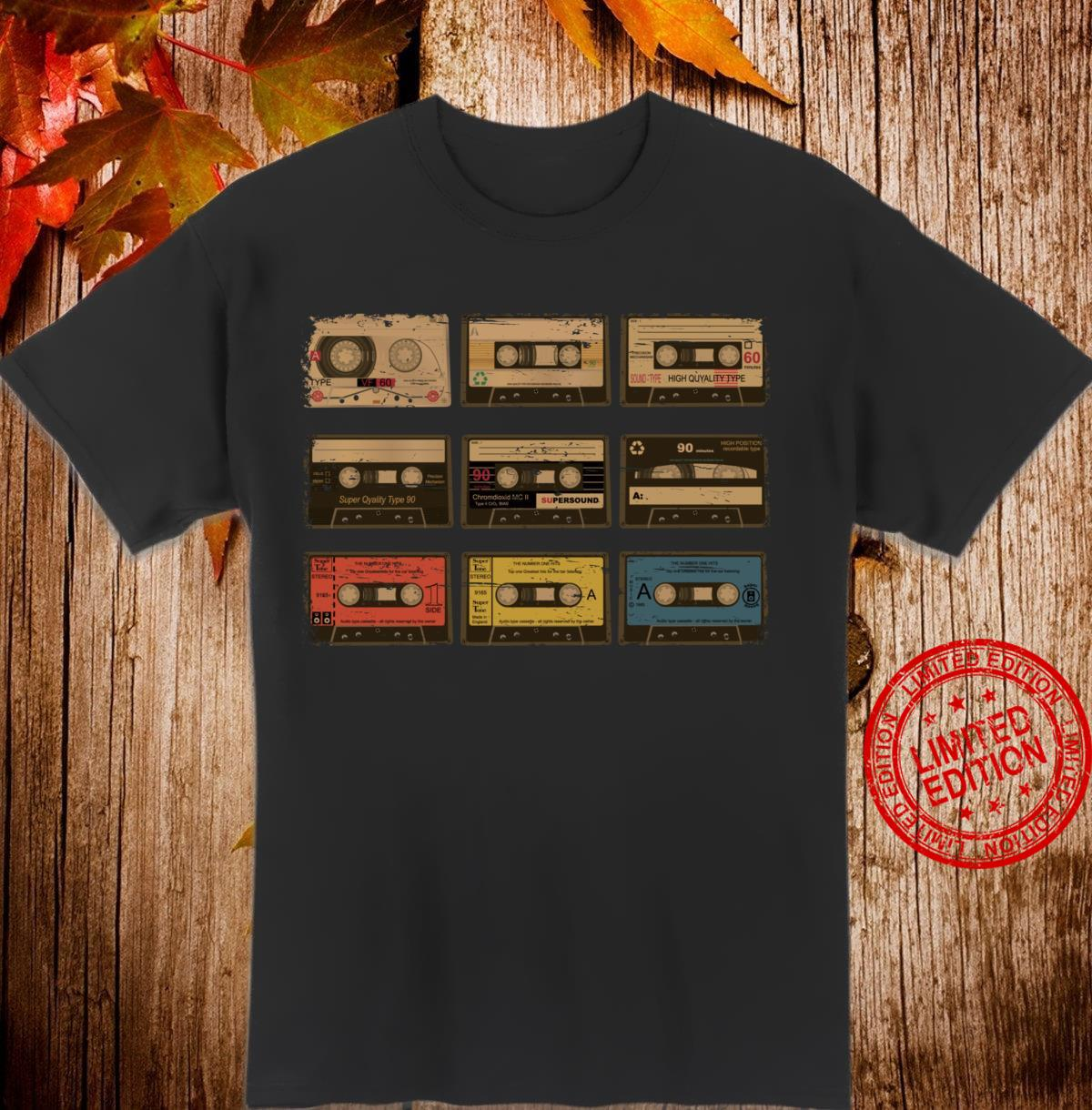 Nine Vintage Cassette Tapes Cute Old Cartridges Shirt