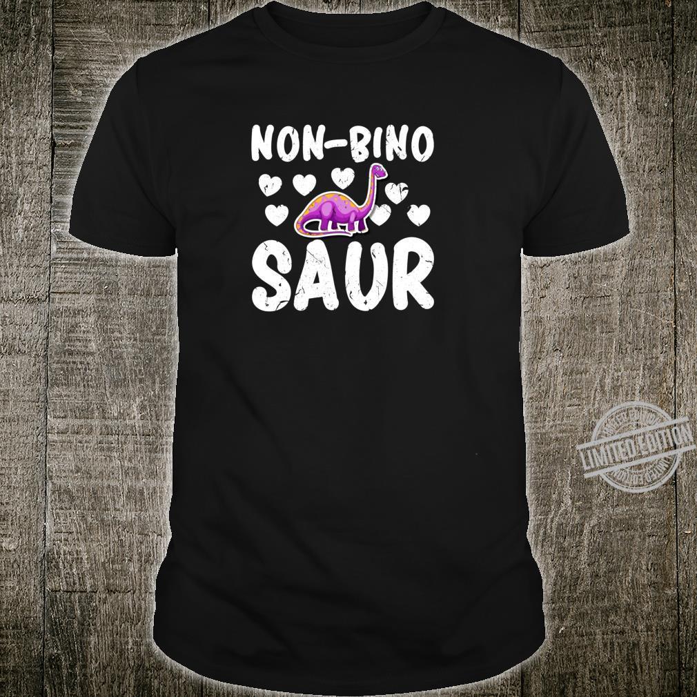 NonBino Saur NonBinary Dinosaur Pride Parade LGBTQ Shirt