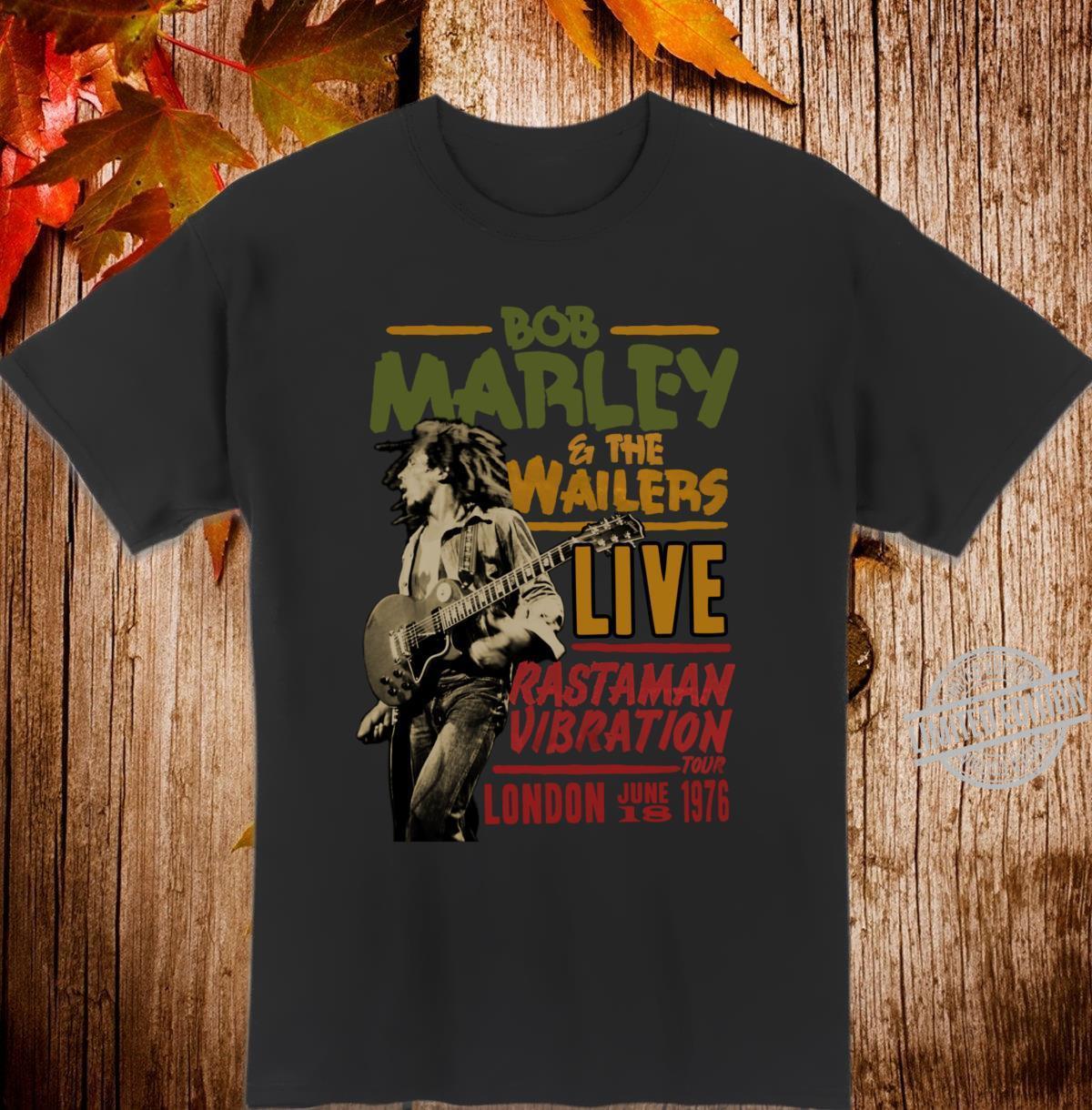 Official Wailers Rastaman Vibration London 1976 Shirt