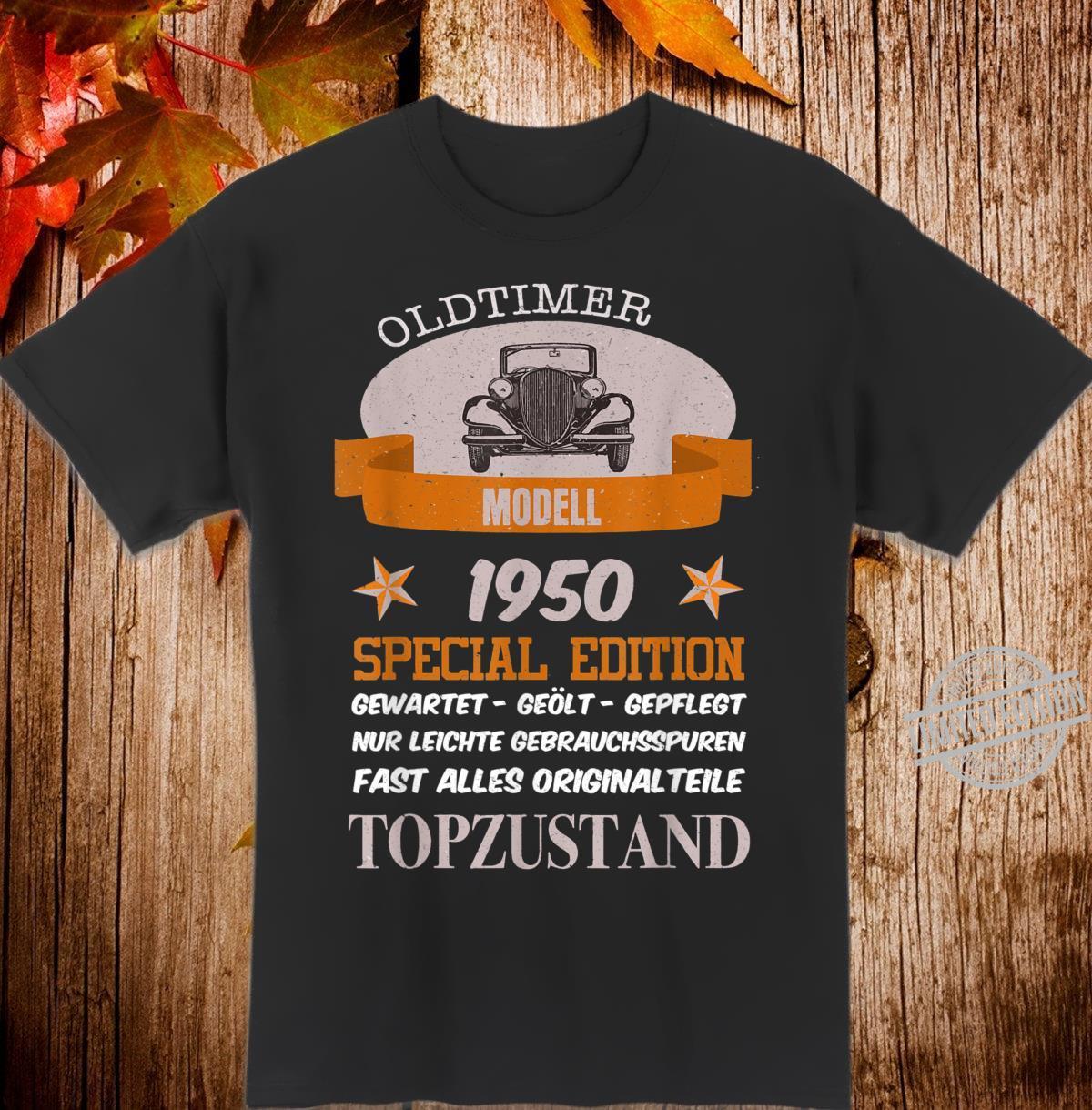 Oldtimer Jahrgang 1950 lustiges Geschenk Shirt