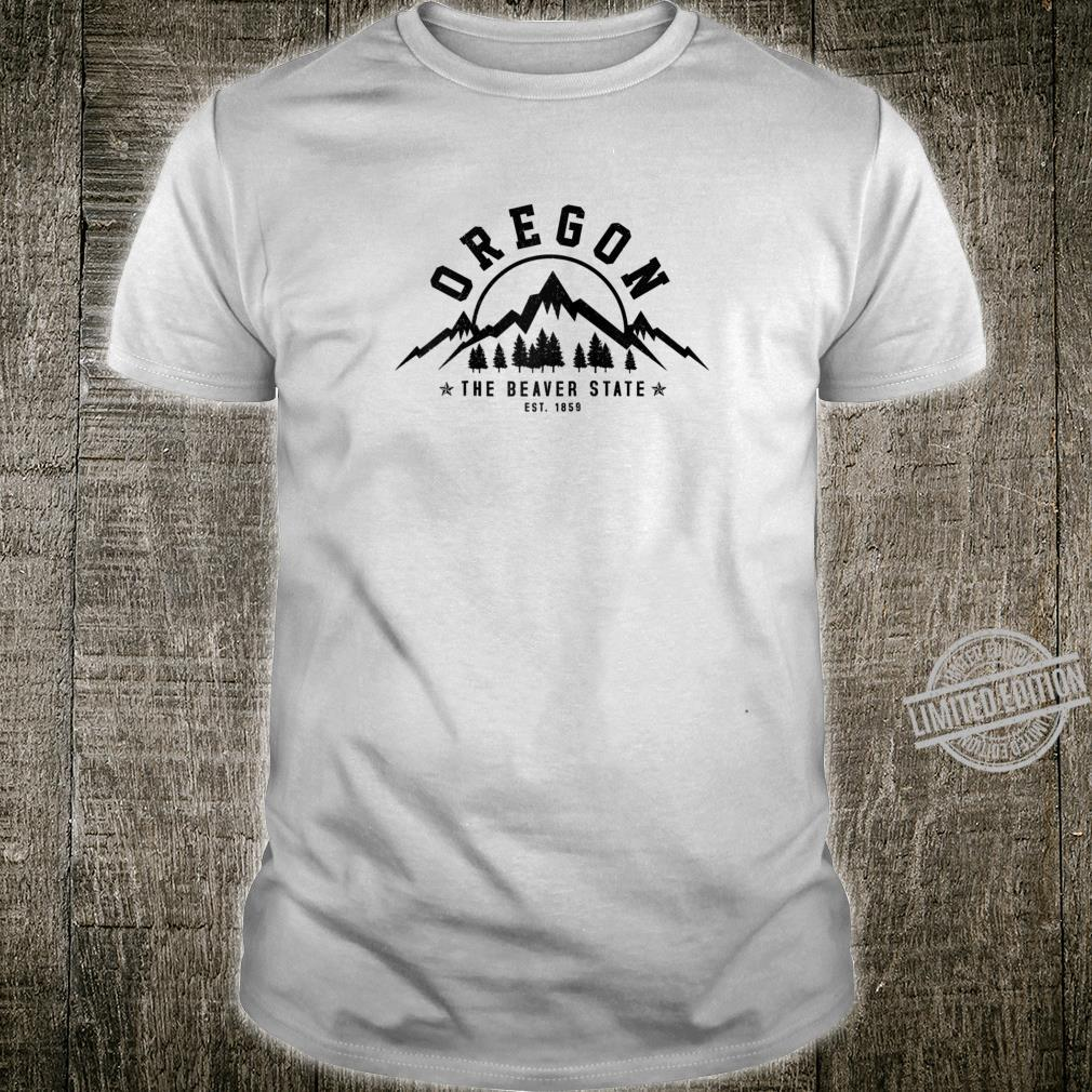 Oregon The Beaver State Est. 1859 Vintage Mountains Shirt
