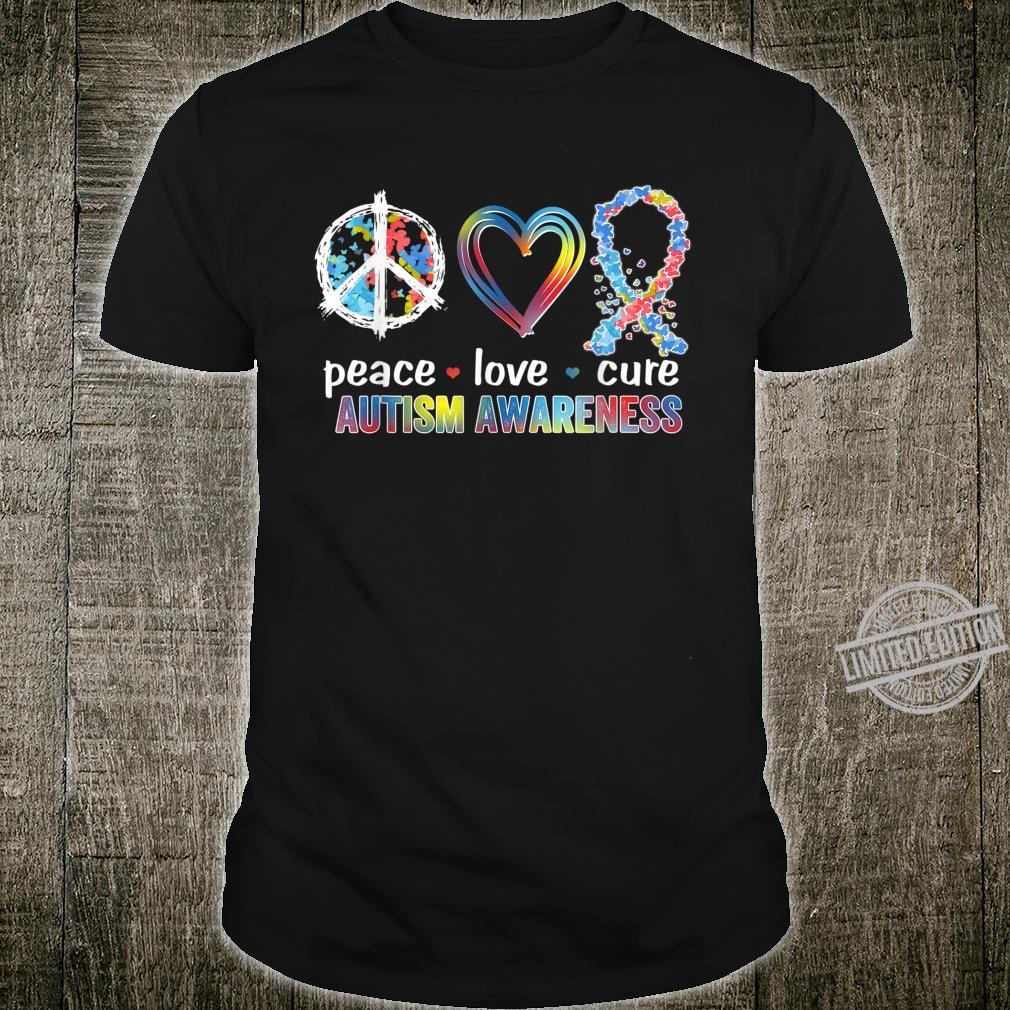 Peace Love Cure Autism Awareness Shirt