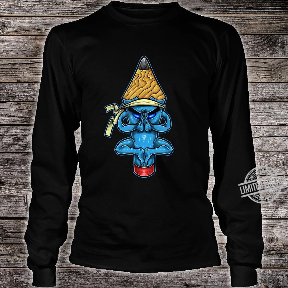 Pencil Monk Character Shirt long sleeved