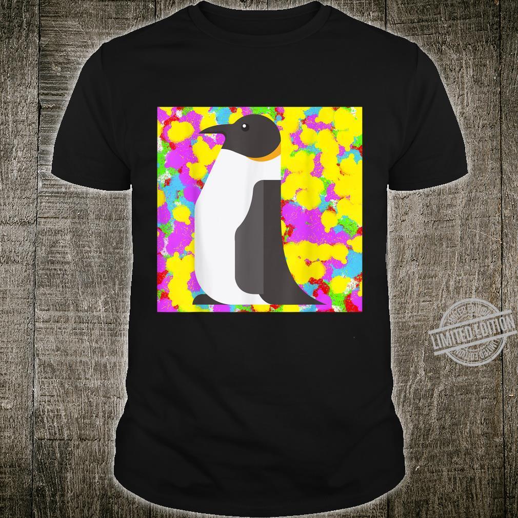 Penguin Pop ColourColor Tie Dye Background Funky Cool Shirt
