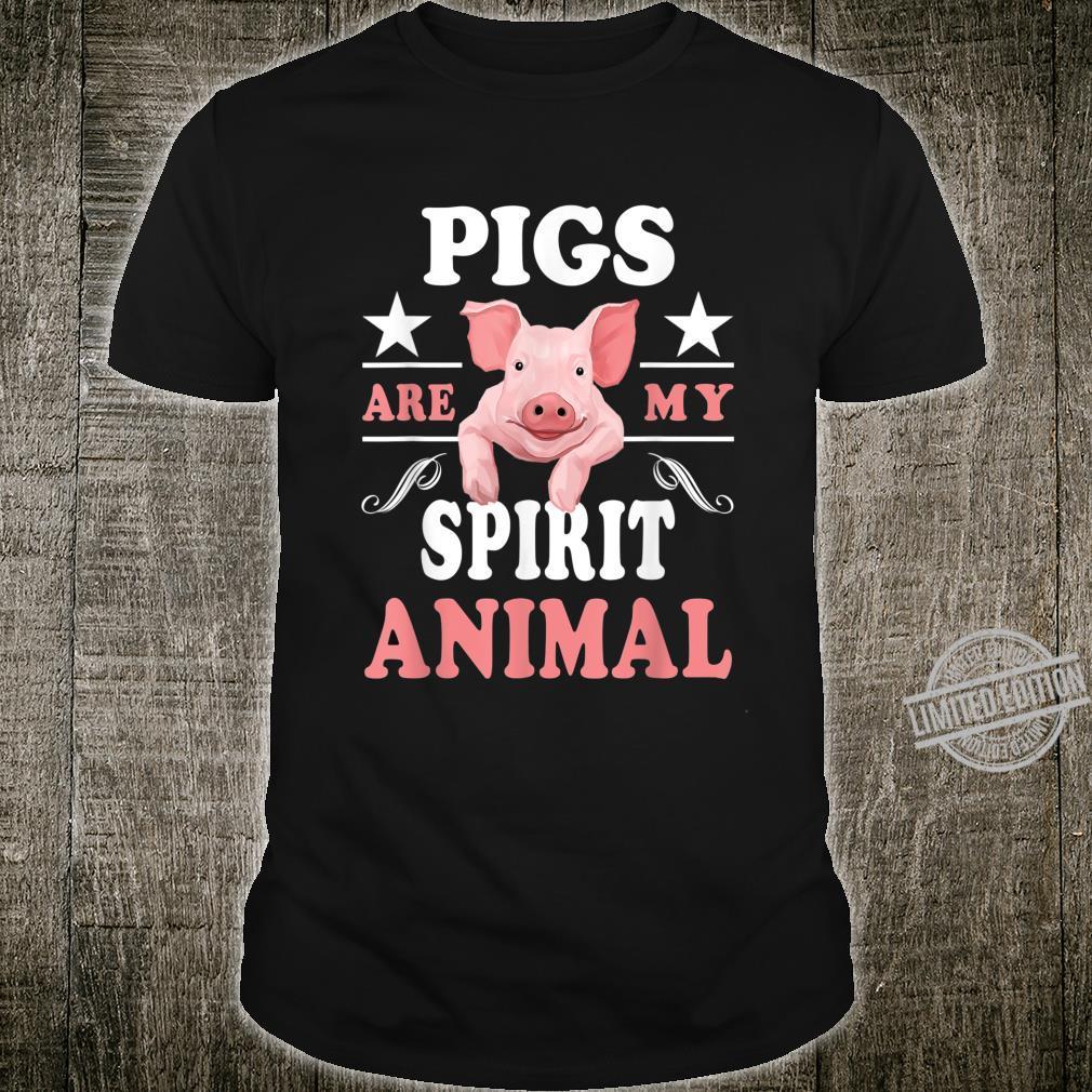 Pigs Are My Spirit Animal Pigs Shirt