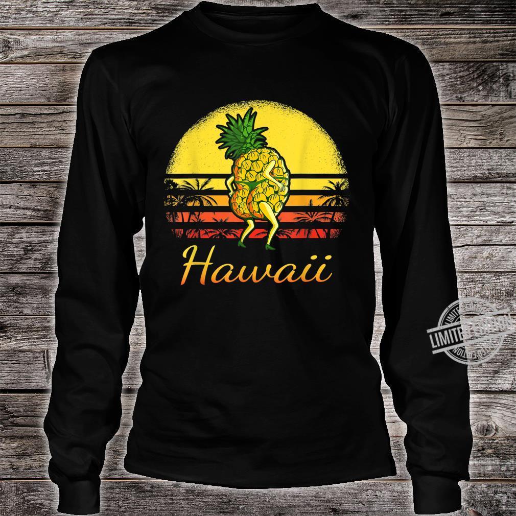 Pineapple Hawaiian Vacation Tropical Hawaii Vintage Sexy Sun Shirt long sleeved