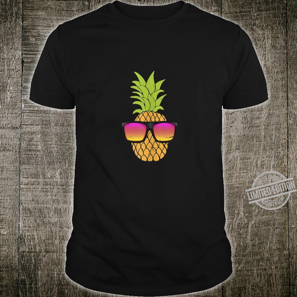Pineapple With Sunglasses Hawaiian Summer Beach Party Shirt
