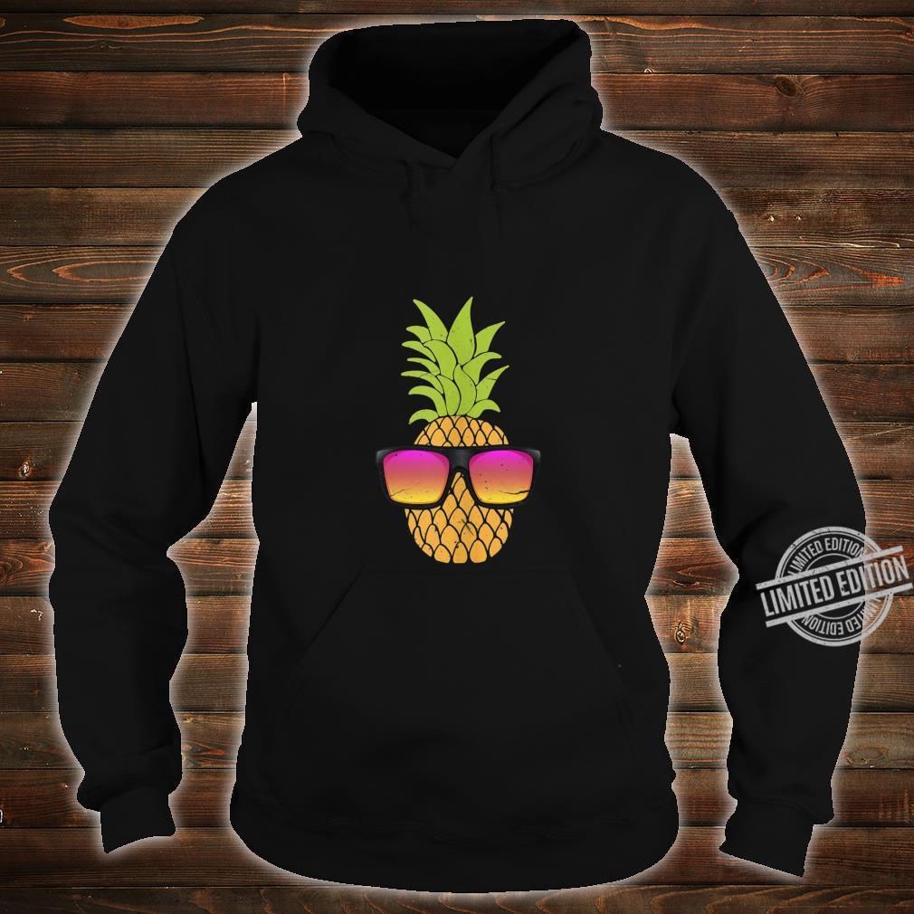 Pineapple With Sunglasses Hawaiian Summer Beach Party Shirt hoodie