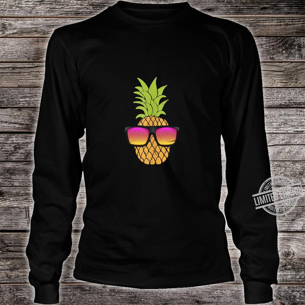Pineapple With Sunglasses Hawaiian Summer Beach Party Shirt long sleeved