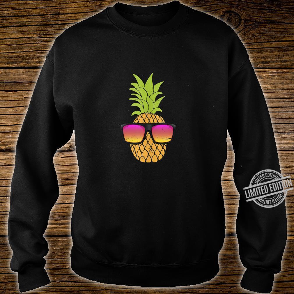 Pineapple With Sunglasses Hawaiian Summer Beach Party Shirt sweater