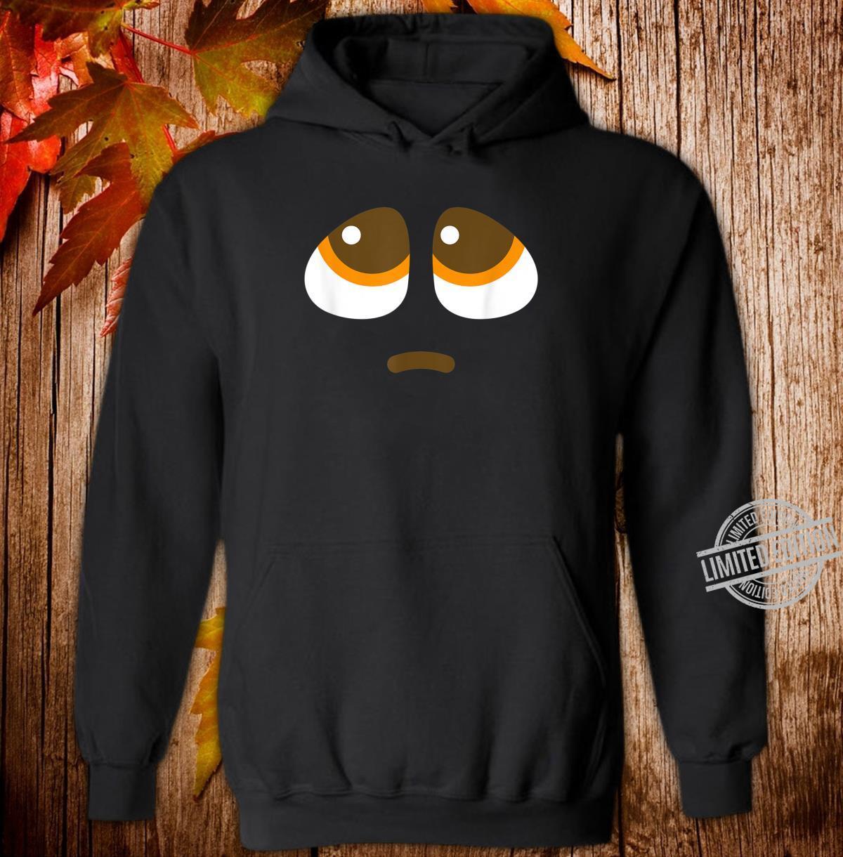Pleading Face Emoji puppy dog eyes Costume Shirt hoodie