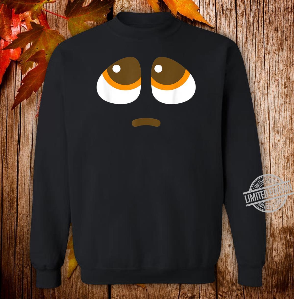 Pleading Face Emoji puppy dog eyes Costume Shirt sweater