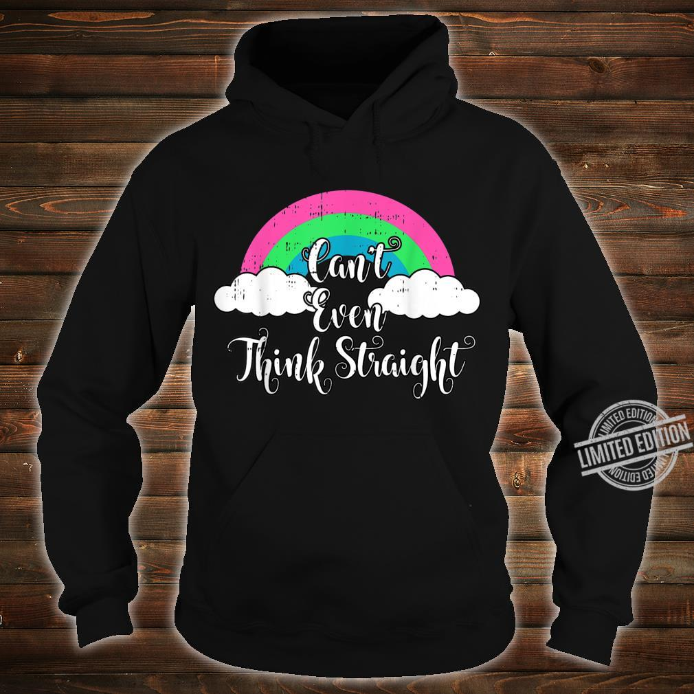 Polysexual Cant Even Think Straight LGBT Ally Shirt hoodie