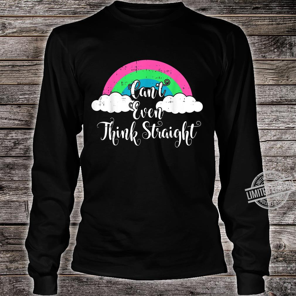 Polysexual Cant Even Think Straight LGBT Ally Shirt long sleeved