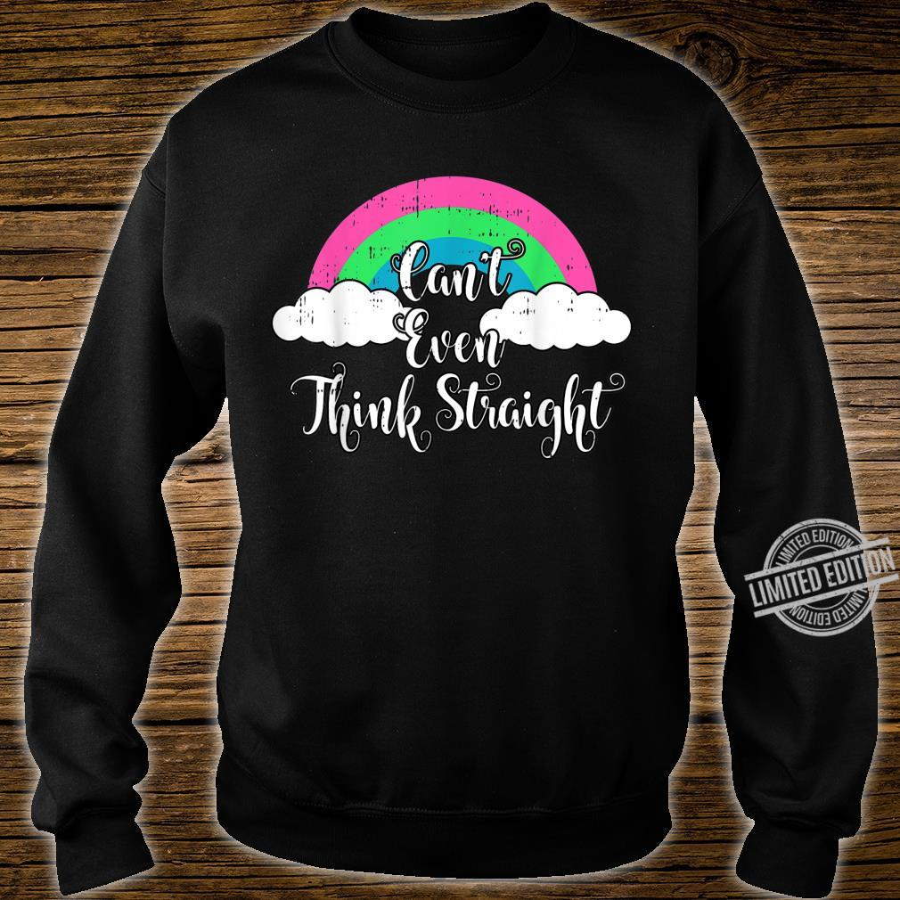 Polysexual Cant Even Think Straight LGBT Ally Shirt sweater