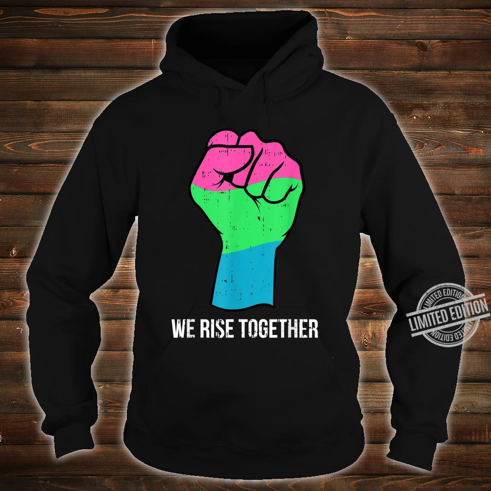 Polysexual Flag LGBTQ We Rise Together Cool LGBT Ally Shirt hoodie