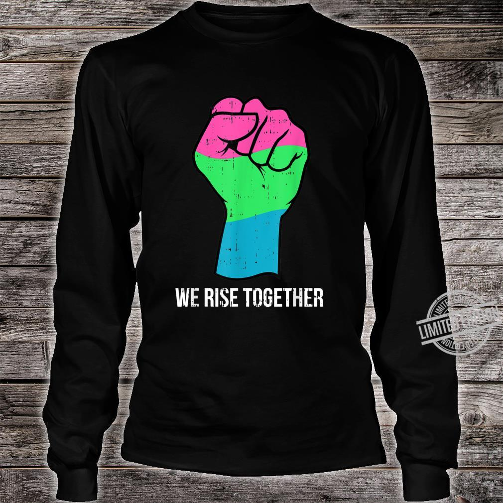 Polysexual Flag LGBTQ We Rise Together Cool LGBT Ally Shirt long sleeved