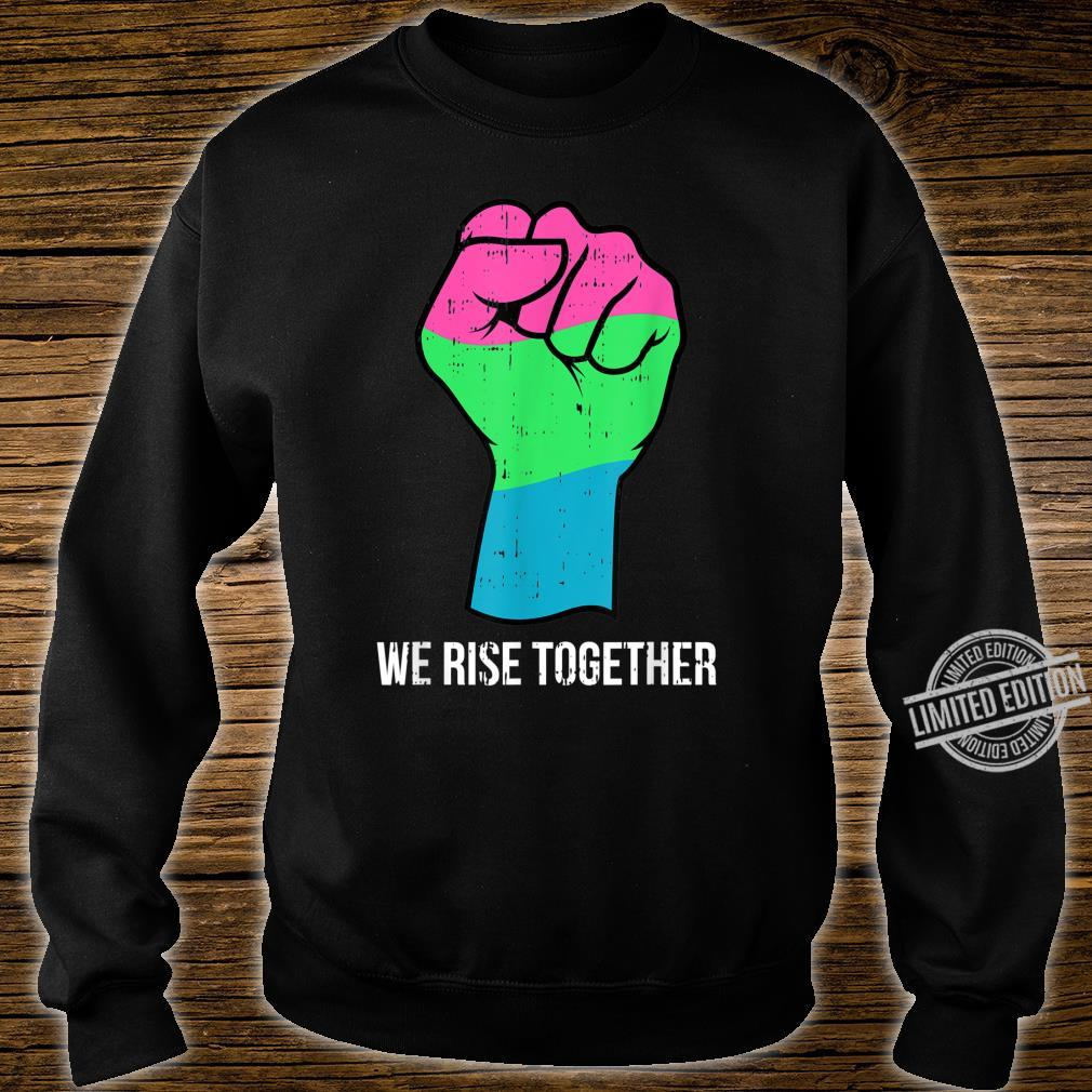 Polysexual Flag LGBTQ We Rise Together Cool LGBT Ally Shirt sweater
