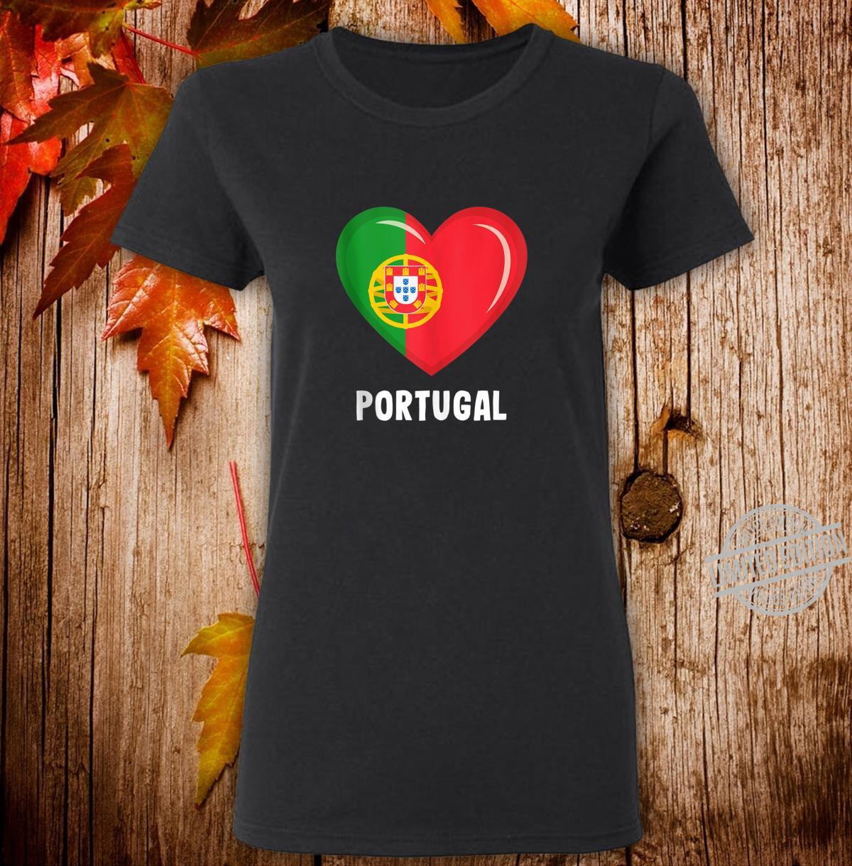 Portugal Flags Portuguese Shirt ladies tee