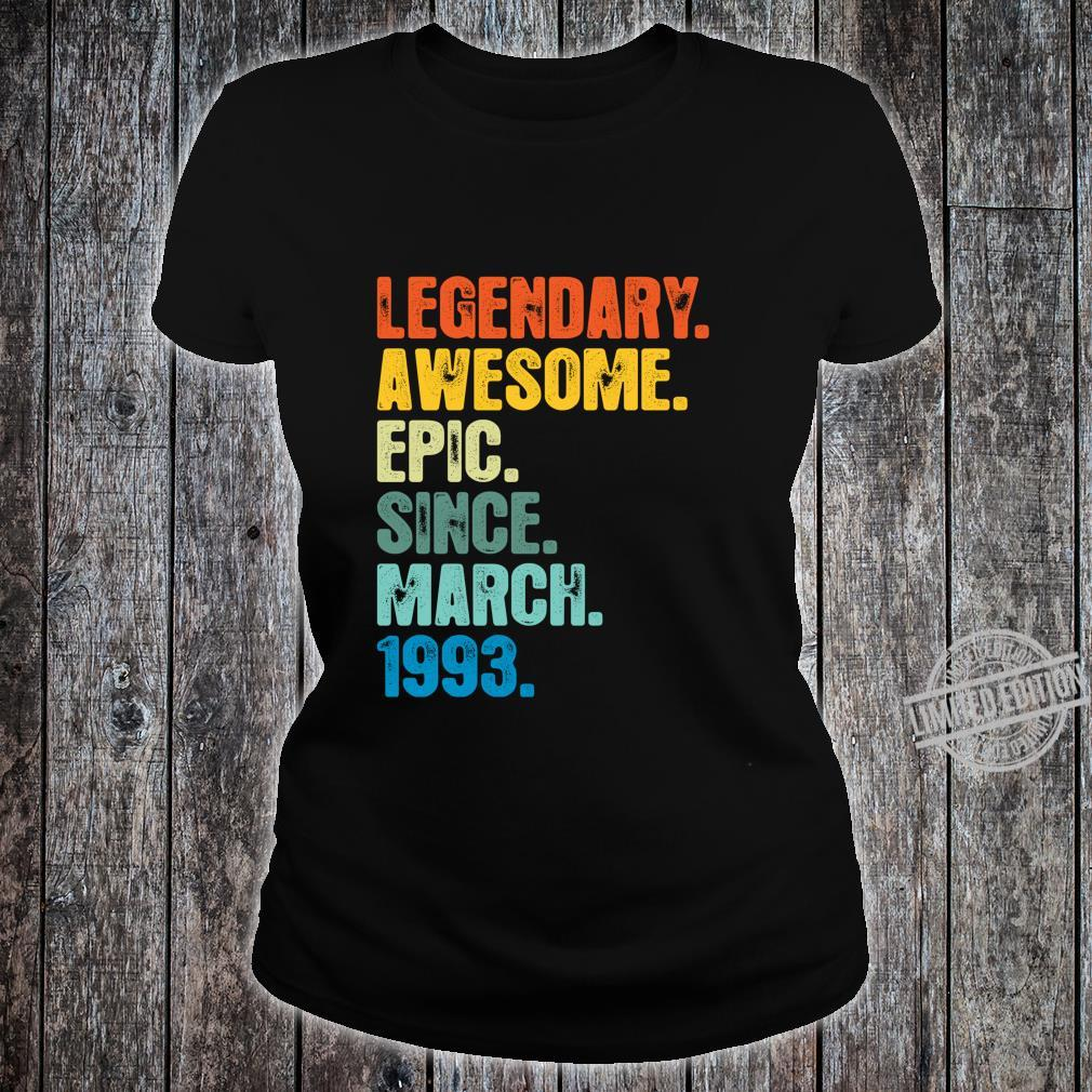 Retro Legendary Since March 1993 27 Years Old Shirt ladies tee