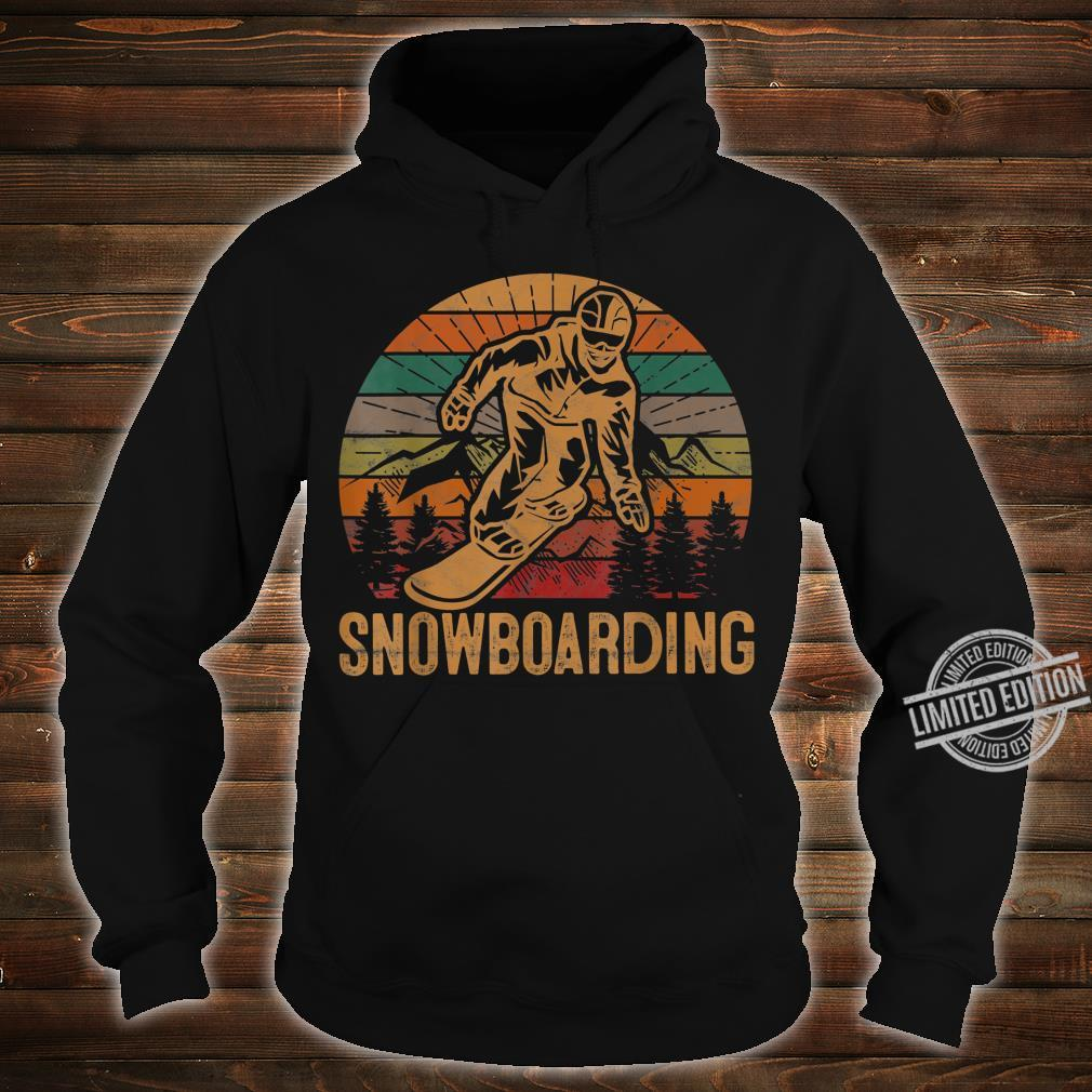 Retro Snowboarding Sunset Snowboard Winter Snowboarder Shirt hoodie