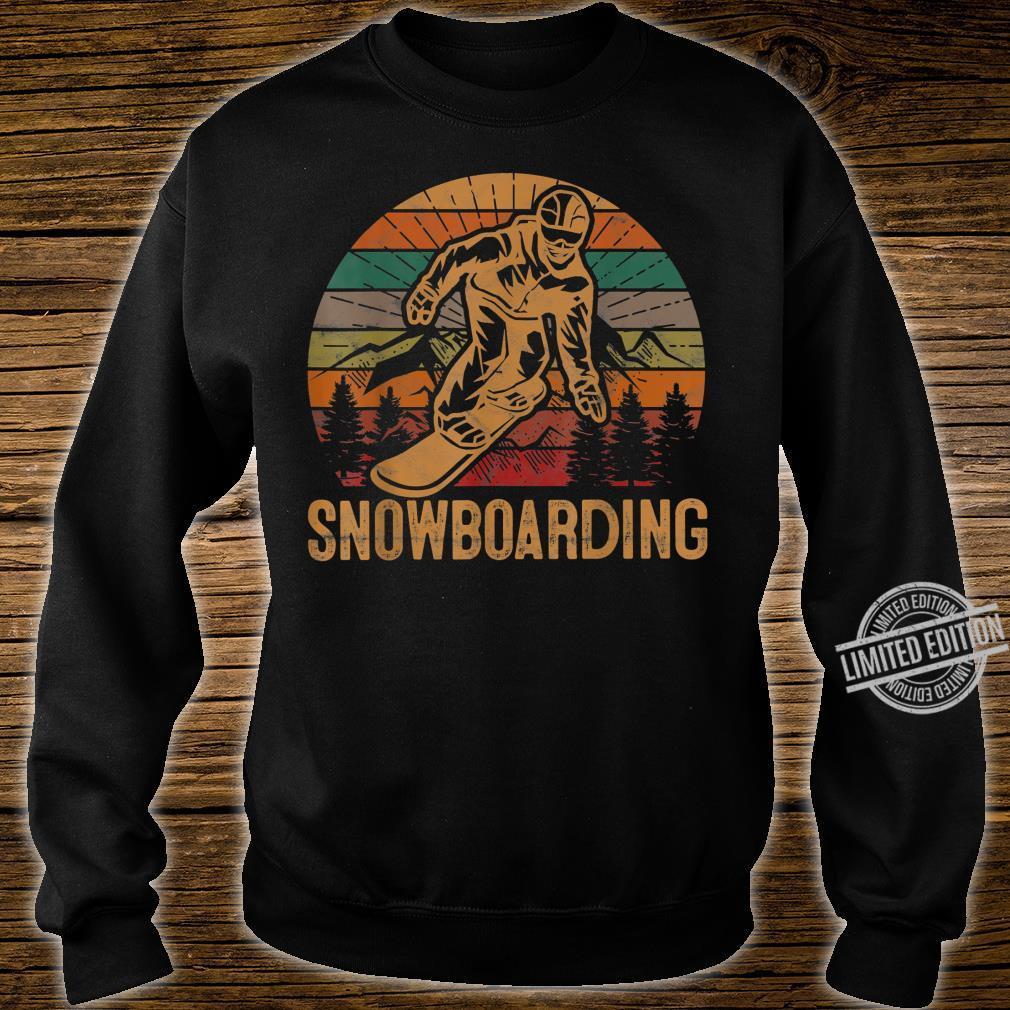 Retro Snowboarding Sunset Snowboard Winter Snowboarder Shirt sweater