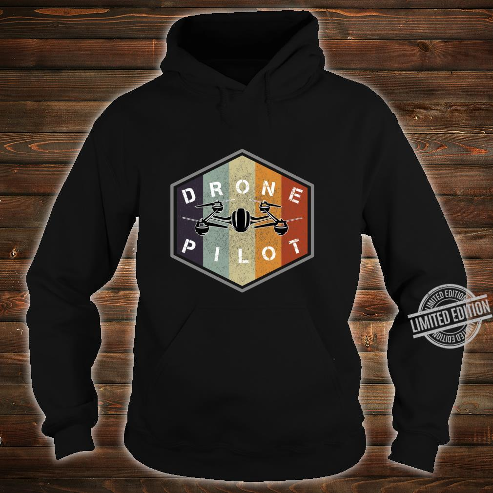 Retro vintage grunge drone pilot idea Shirt hoodie