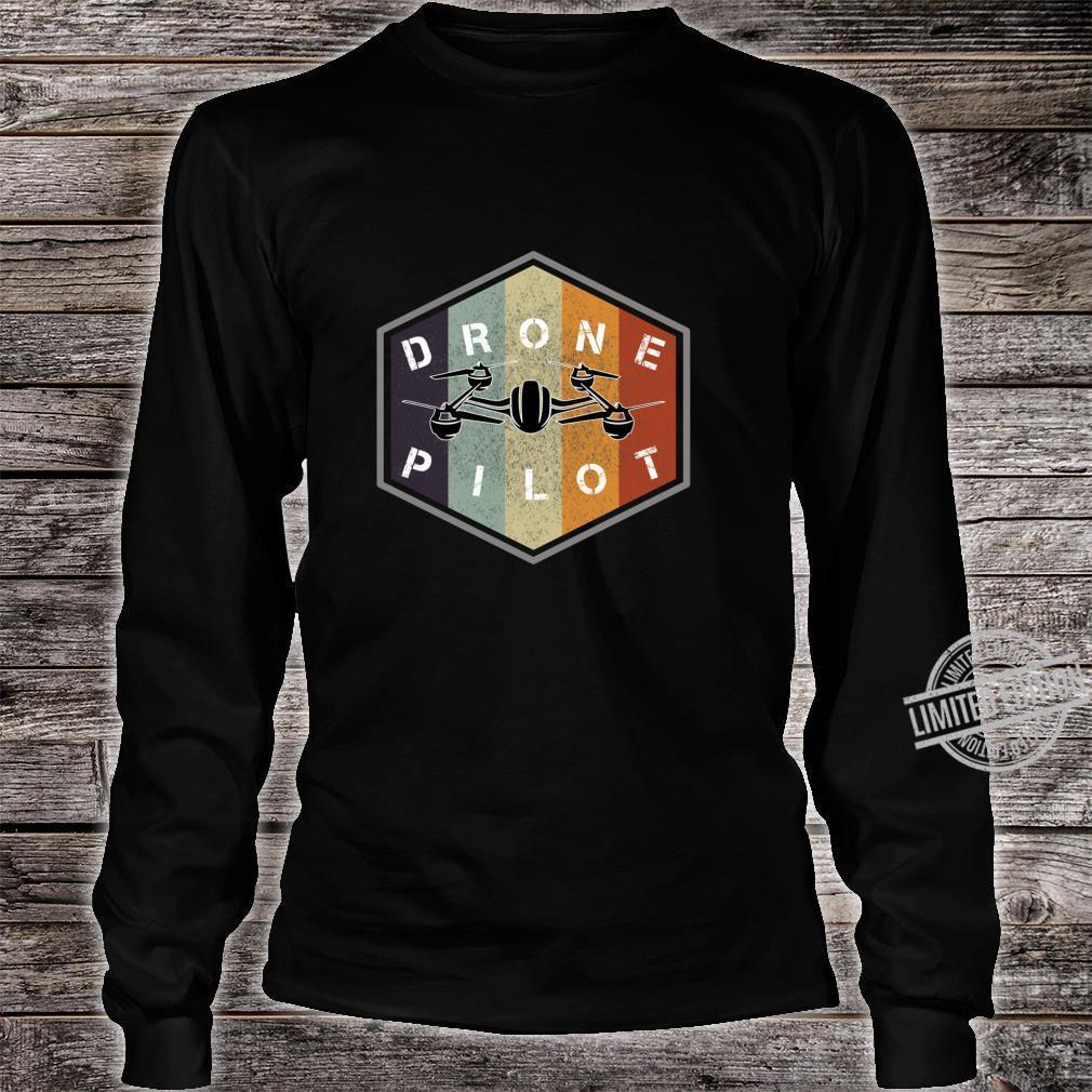 Retro vintage grunge drone pilot idea Shirt long sleeved