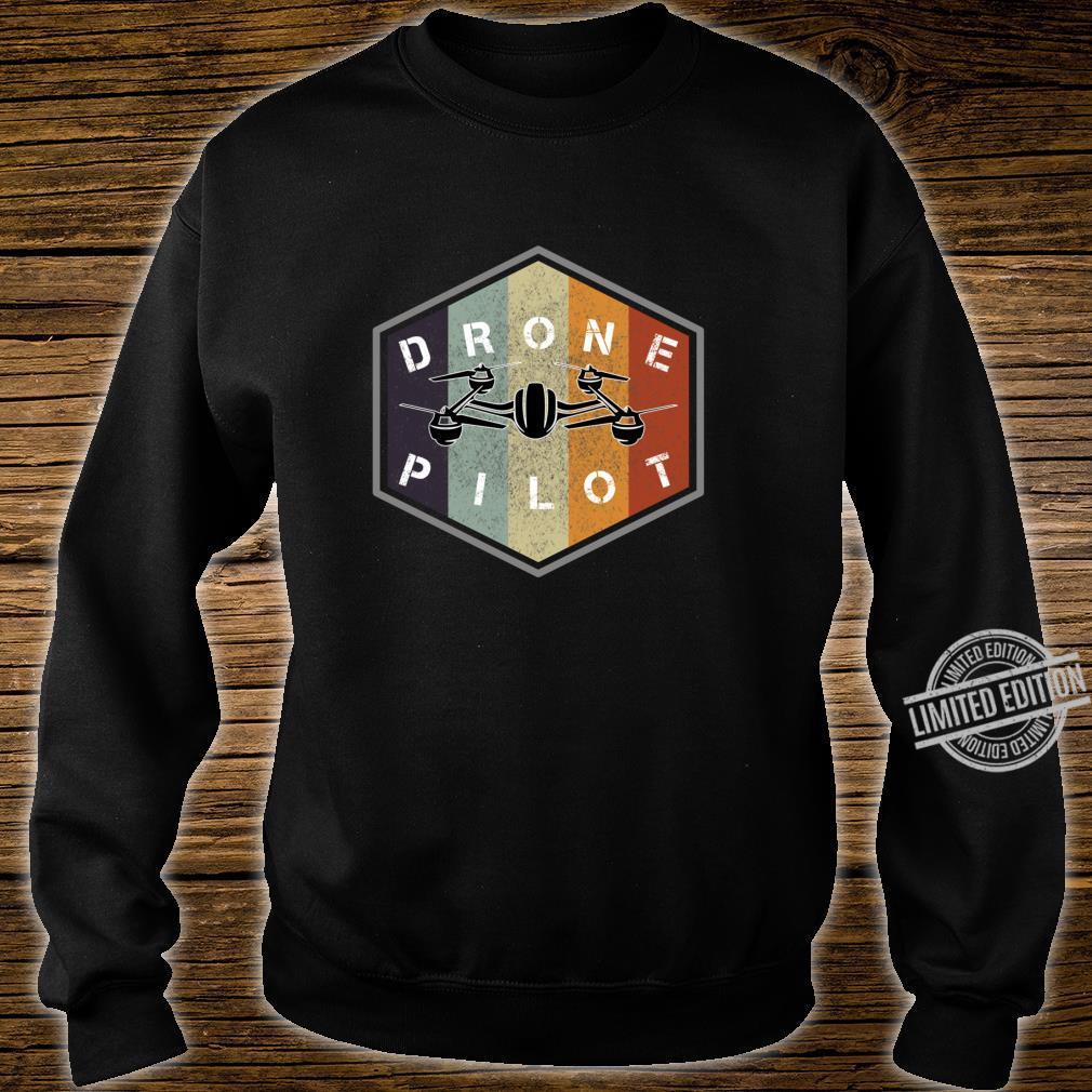 Retro vintage grunge drone pilot idea Shirt sweater