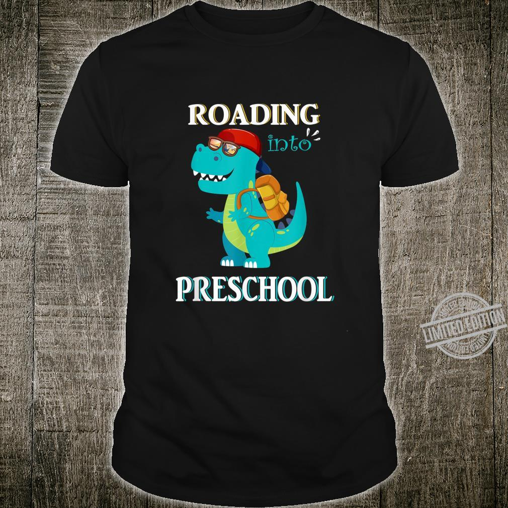 Roaring Into Preschool Last Day Of School Dinosaur Fun Shirt