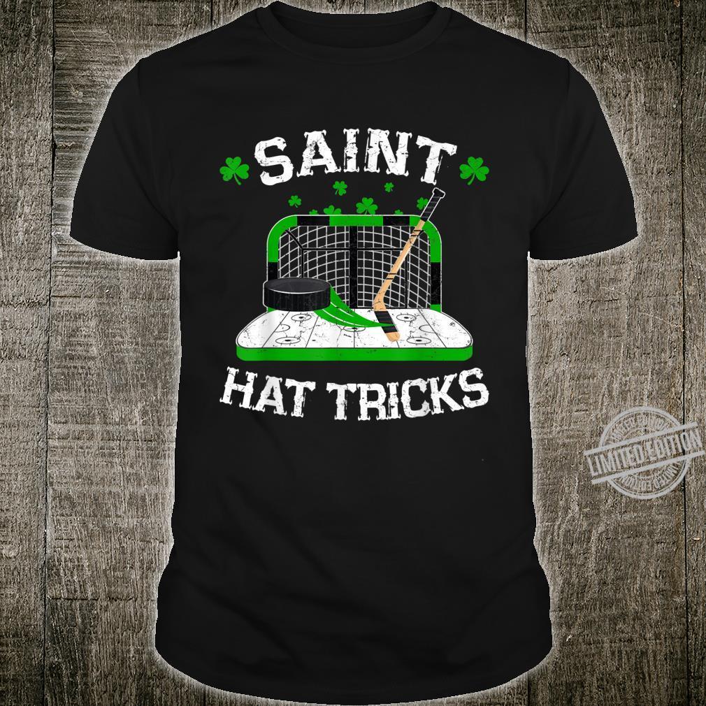 Saint Hat Tricks Hockey Shirt Hockey St. Patrick's Day Shirt