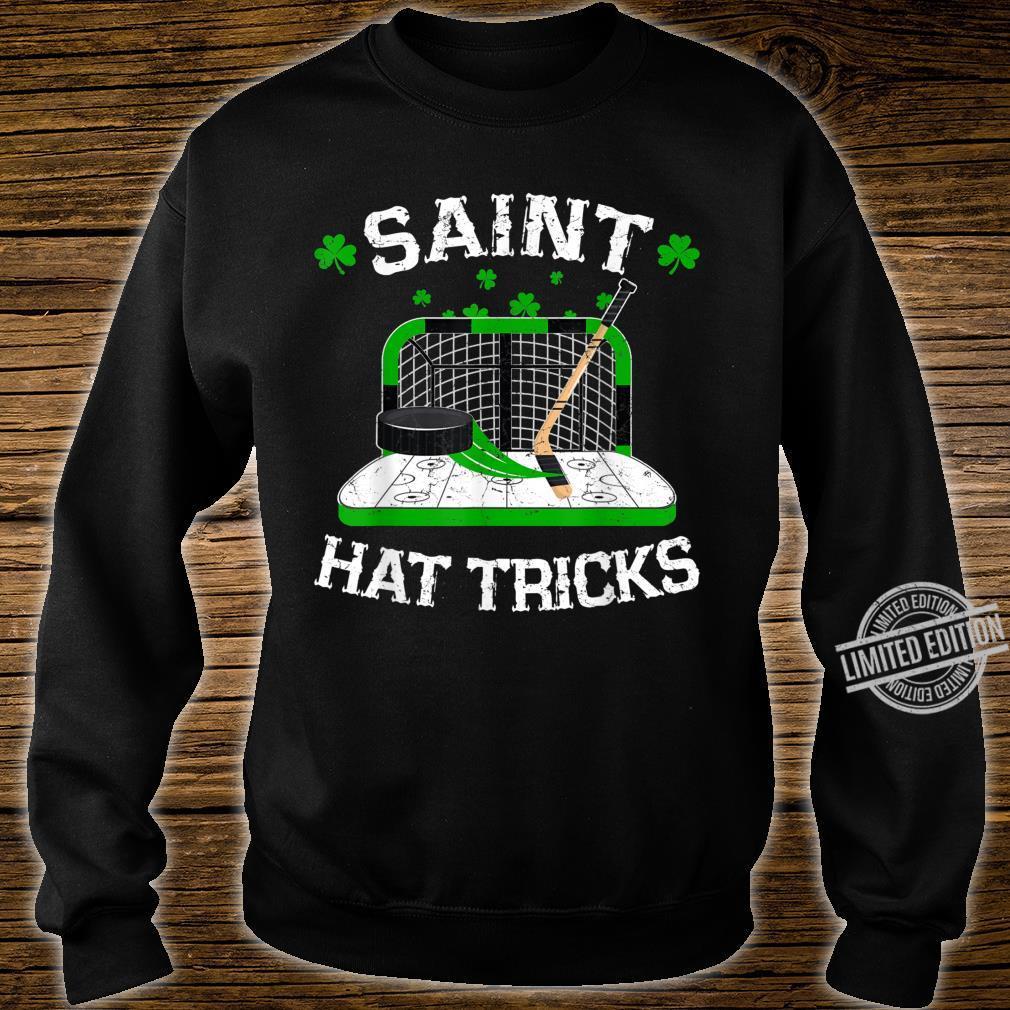 Saint Hat Tricks Hockey Shirt Hockey St. Patrick's Day Shirt sweater