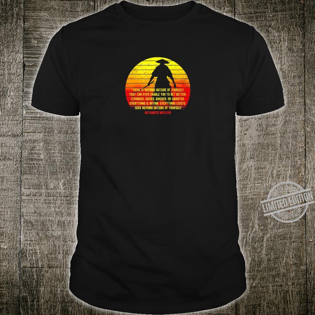 Samurai Musashi Wisdom, Backprint Shirt
