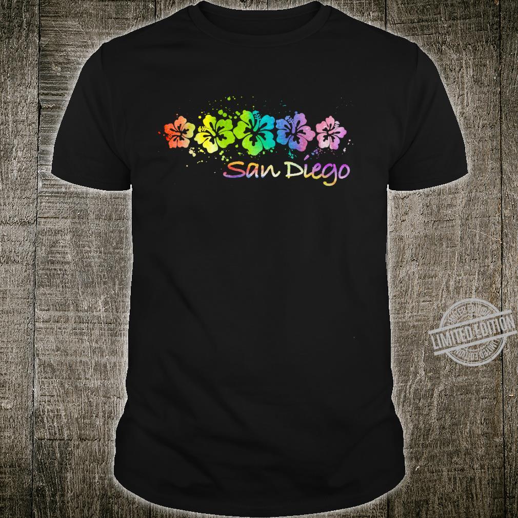 San Diego, CA Watercolor Beach & Surf Shirt
