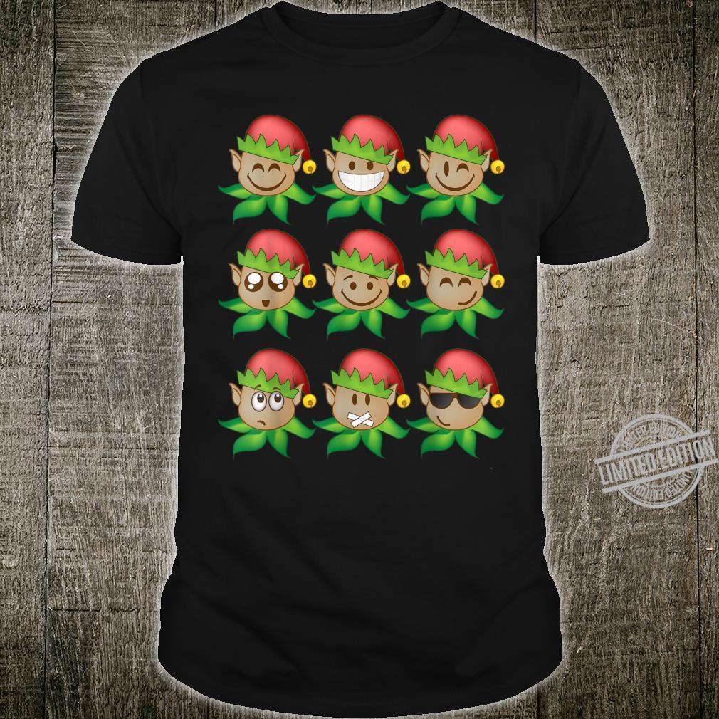 Santa's Elves Emojis Christmas XMas Smiley Cute Shirt