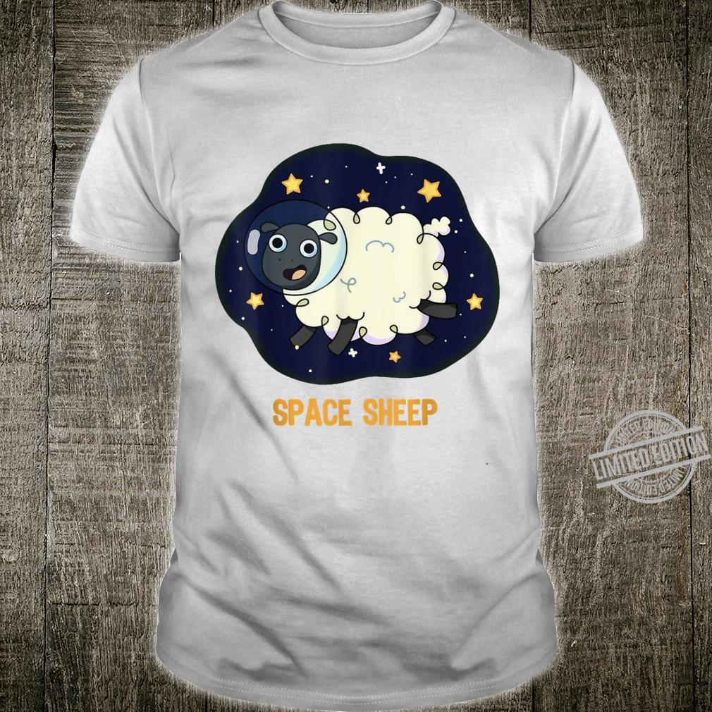 Space Sheep Astronaut Spacesuit Stars Planets Galaxy Shirt