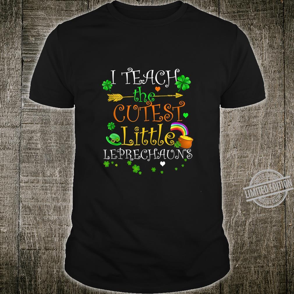 St. Patricks Day Teacher Cutest Little Leprechauns 1st Grade Shirt