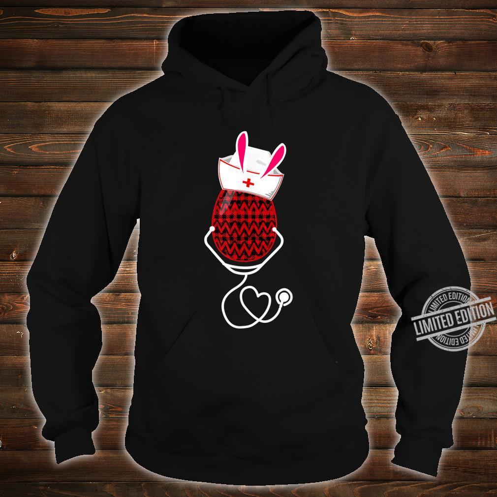 Stethoscope Nurse Easter Bunny Egg Red Plaid Costume Shirt hoodie