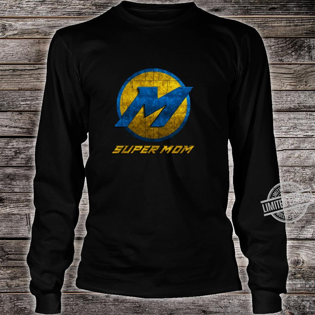 Super Mom Cool Mother Day Superhero Best Mommy Mama Xmas Shirt long sleeved