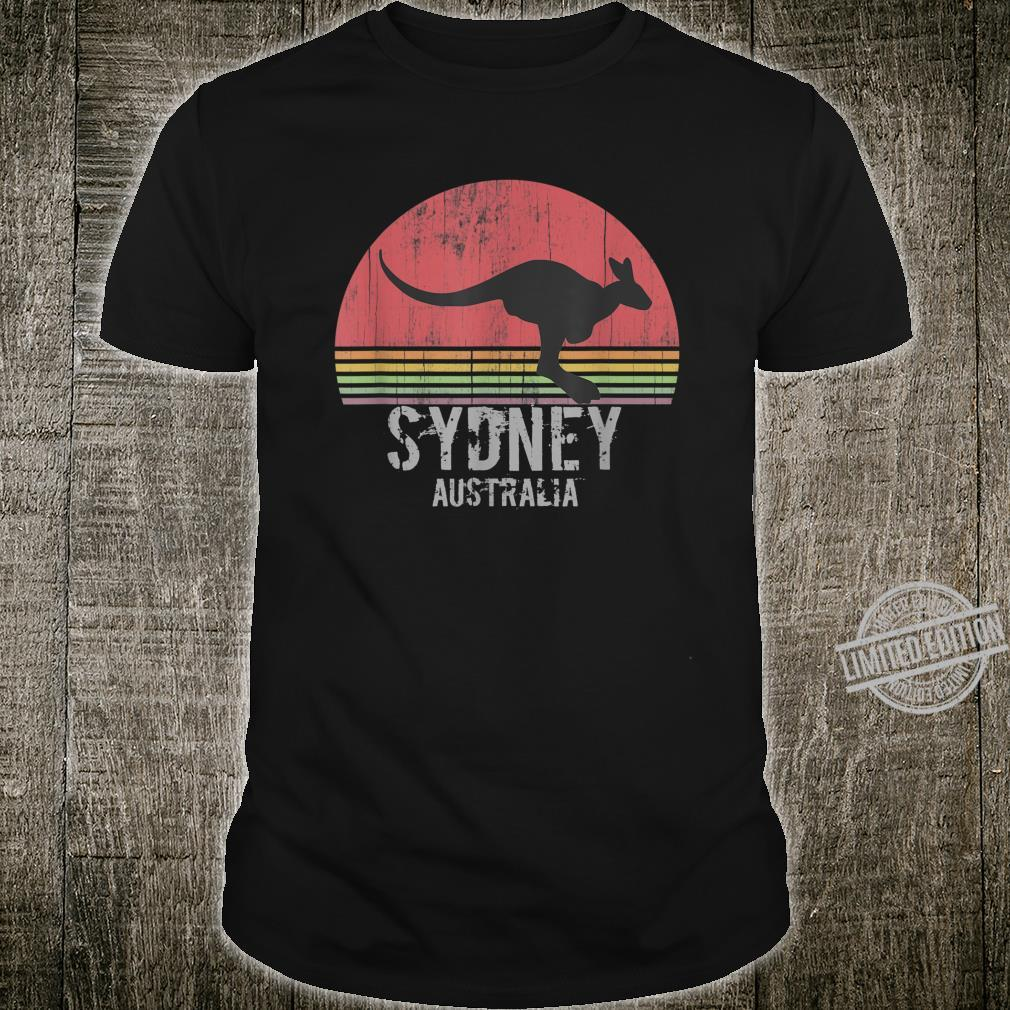 Sydney Retro City Australia Vintage Kangaroo Shirt