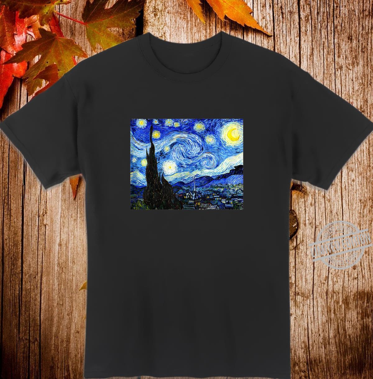 The Starry Night Van Gogh Vintage Art World Famous Painting Shirt