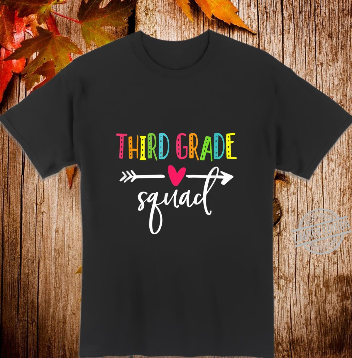 Third Grade Squad Shirt Teacher Student Kid Back To School Shirt