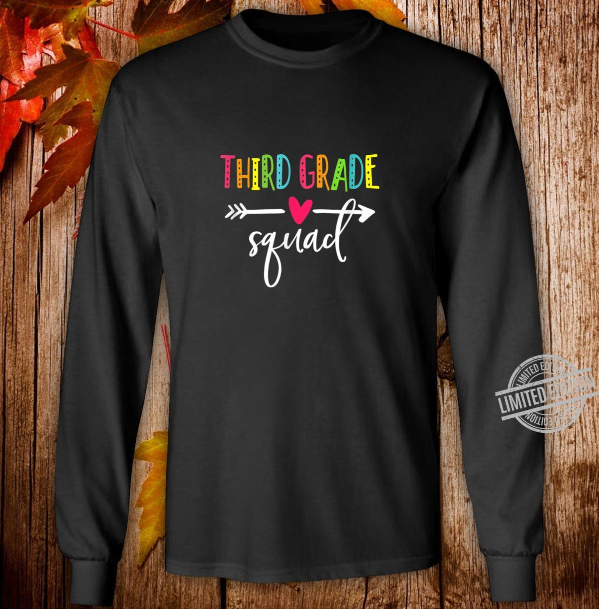 Third Grade Squad Shirt Teacher Student Kid Back To School Shirt long sleeved