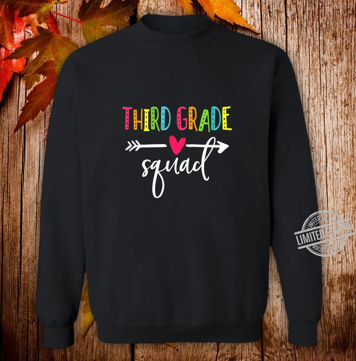 Third Grade Squad Shirt Teacher Student Kid Back To School Shirt sweater