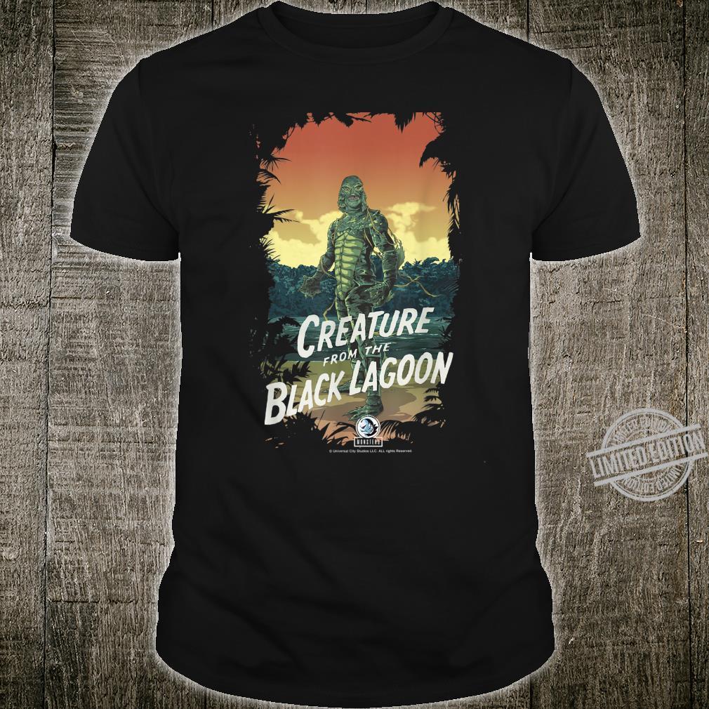 Universal Monsters Creature From The Black Lagoon Dark Frame Shirt