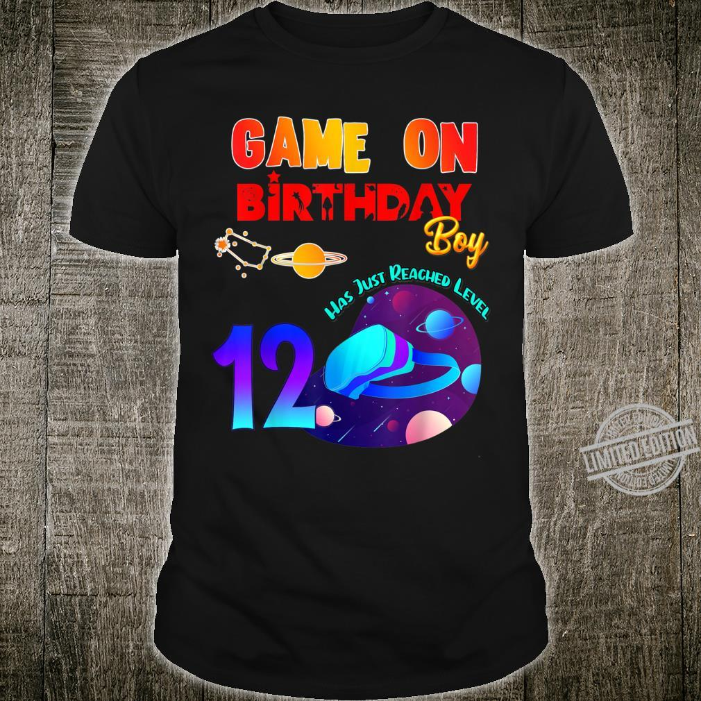 VR Virtual Reality Game On 12 Birthday Party Matching Outfit Shirt